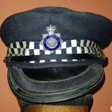 Militaria: ANTIGUA GORRA DE PLATO POLICÍA REINO UNIDO WEST YORKSHIRE POLICE GREAT BRITAIN. Lote 184489378