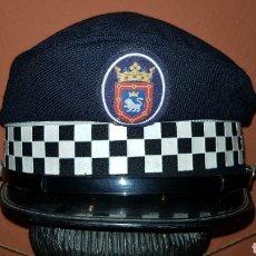 Militaria: GORRA DE PLATO POLICÍA LOCAL. Lote 184489795