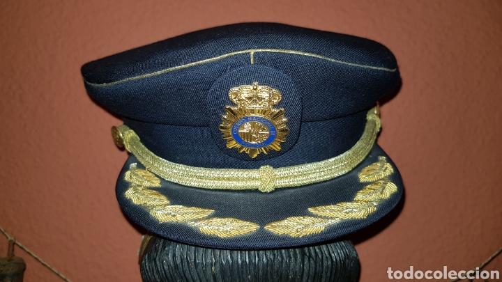 Militaria: GORRA DE PLATO COMISARIO CUERPO NACIONAL DE POLICÍA - Foto 2 - 184490981