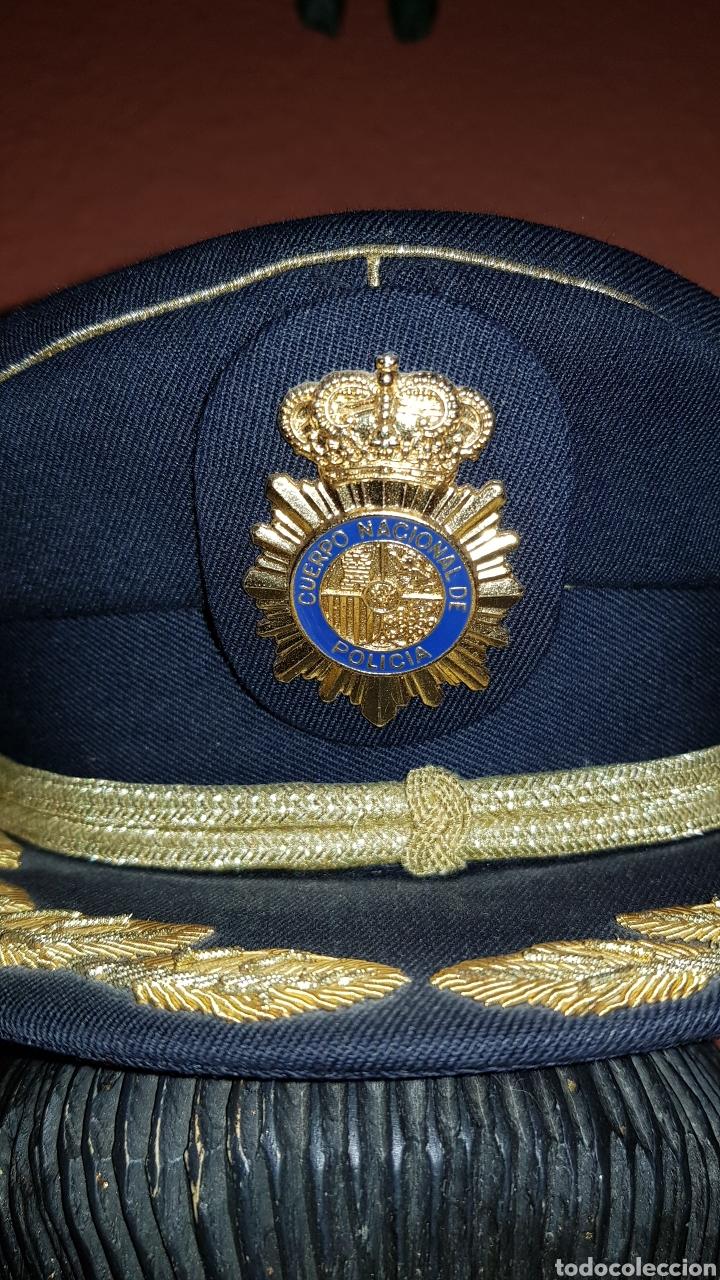 Militaria: GORRA DE PLATO COMISARIO CUERPO NACIONAL DE POLICÍA - Foto 3 - 184490981