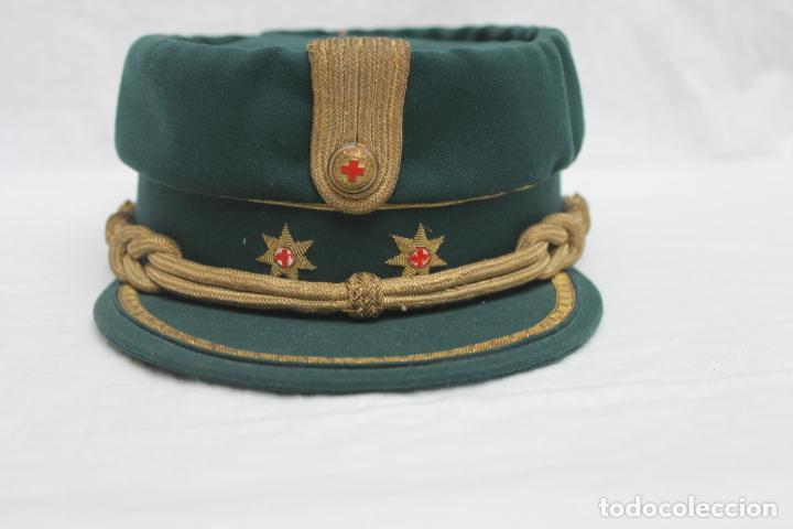 Militaria: ANTIGUA GORRA TERESIANA TENIENTE CORONEL CRUZ ROJA - Foto 2 - 184904045