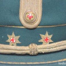 Militaria: ANTIGUA GORRA TERESIANA TENIENTE CORONEL CRUZ ROJA. Lote 184904045
