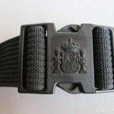 Militaria: CEÑIDOR CINTURON POLICIA LONA NEGRO . ENVIO INCLUIDO. Lote 185696978