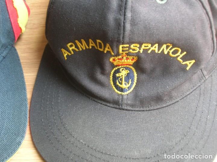 Militaria: RARO LOTE DE DOS GORRAS DE LA ARMADA ESPAÑOLA. BUQUE OCEANOGRAFICO HESPERIDES A33. ANTARTIDA. - Foto 3 - 186296876