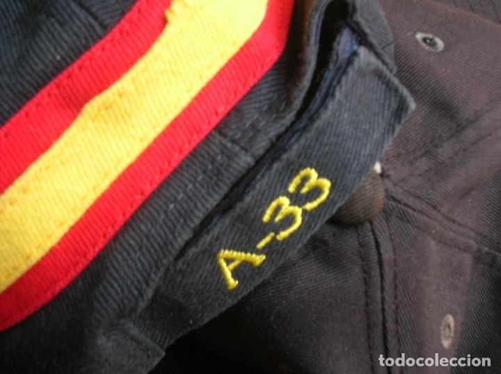 Militaria: RARO LOTE DE DOS GORRAS DE LA ARMADA ESPAÑOLA. BUQUE OCEANOGRAFICO HESPERIDES A33. ANTARTIDA. - Foto 4 - 186296876