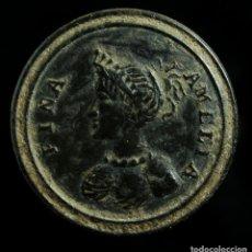 Militaria: BOTÓN CIVIL SIGLO XIX, FINA AMELIA, 14 MM.. Lote 186303563