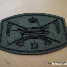 Militaria: PARCHE DEL REGIMIENTO FARNESIO 12. CABALLERIA. LANZAS SOBRE CARRO DE COMBATE M-60. Lote 188578616