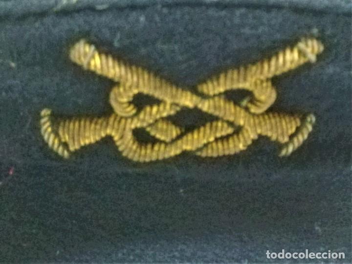 Militaria: GORRA DE PLATO DE TROMPETA,AÑOS 40/50 BANDA MILITAR O SIMILAR,POSIBLEMENTE ALEMANA,BORDADO EN ORO - Foto 4 - 188592085