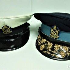 Militaria: GORRA MILITAR DE GENERAL INSPECTOR Y POLICIA NEPAL,AÑOS60,EPOCA MONARQUIA,INSIGNIA CUCHILLO,HIMALAYA. Lote 189104637