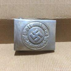 Militaria: HEBILLA CINTURON GOTT MIT UNS ALEMANIA PARTIDO NAZI TERCER REICH WEHRMACHT. Lote 189215232