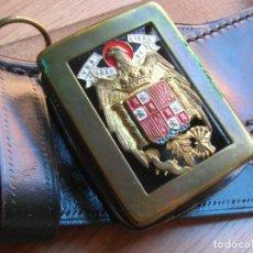 Militaria: MUY ESCASO CINTURÓN ORIGINAL DE LA GUARDIA DEL CAUDILLO GENERALISIMO FRANCO. AÑOS 50-60.. Lote 189467841