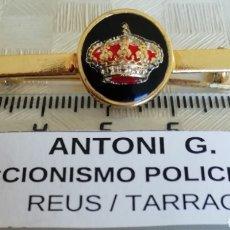 Militaria: AGUJA ALFILER PASADOR CORBATA CORONA REAL ESPAÑA. Lote 189678636