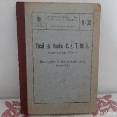 Militaria: FUSIL DE ASALTO C.E.T.M.E. CALIBRE 7,62 MM DRC.GRAL. INDUSTRIA MATERIAL. R - 30 1960 (VI/2) EJERCITO. Lote 189748052