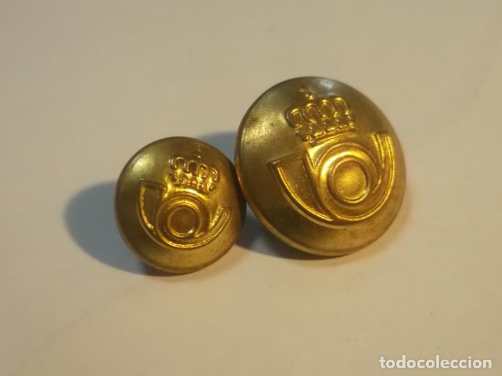 Militaria: Lote 2 botones Correos - Foto 3 - 189924031