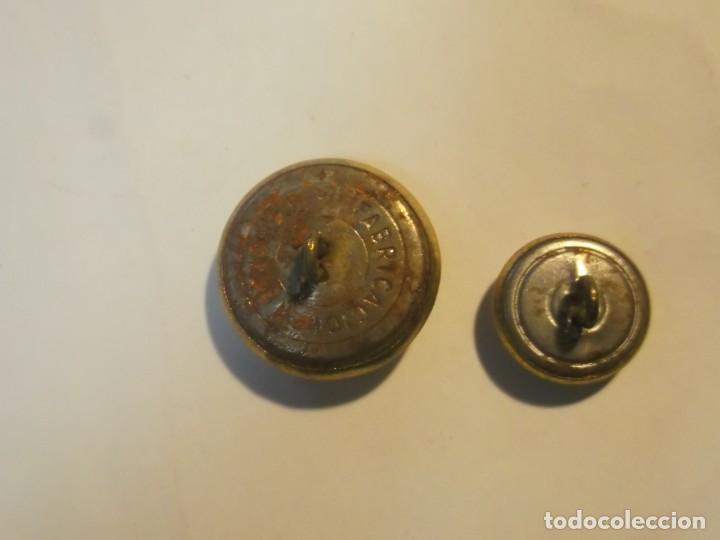 Militaria: Lote 2 botones Correos - Foto 4 - 189924031