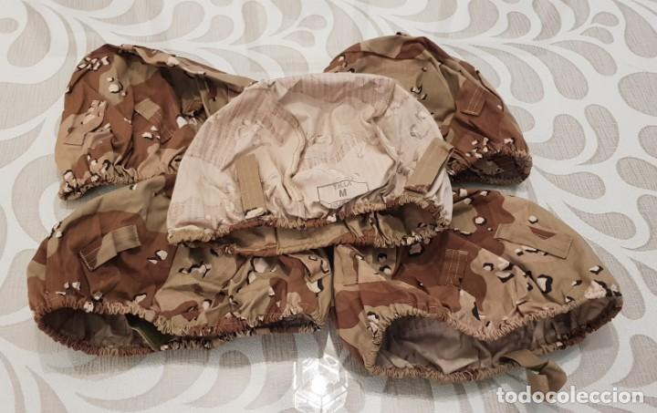5 FUNDA CASCO MARTE, MIMETIZADO ARIDO ANTIDESGARRO, 6 COLORES,LEGION BRIPAC, REGULARES, COES (Militar - Otros relacionados con uniformes )