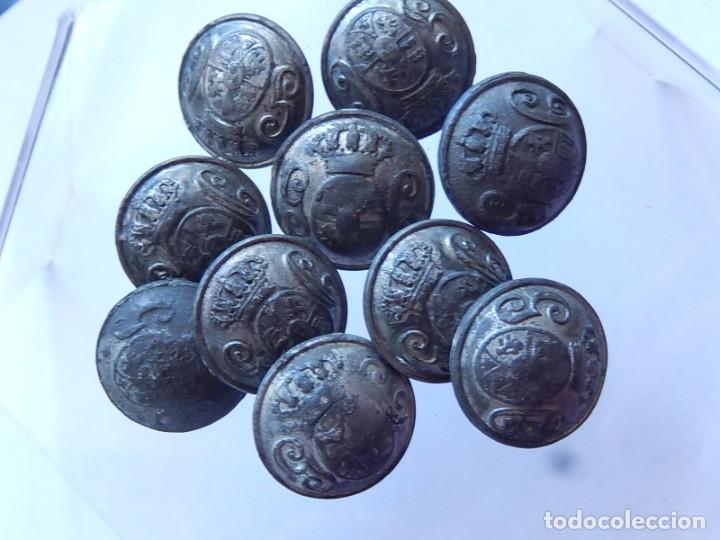 Militaria: Lote de botones. Guardia Civil. Mediados / Finales siglo XIX. - Foto 2 - 190196312