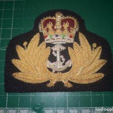 Militaria: ROYAL NAVY. GALLETA DE GORRA DE PLATO PARA OFICIAL. Lote 190318193