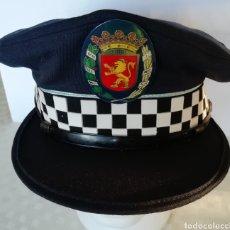 Militaria: GORRA POLICÍA LOCAL DE ZARAGOZA ARAGÓN ESPAÑA, CON ESCUDO METÁLICO. Lote 190354221