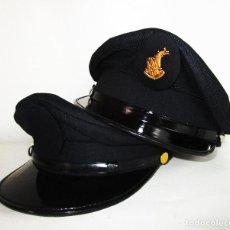 Militaria: NUNCA VISTAS! GORRAS DE PLATO POLICIA AUTORIDAD PORTUARIA PUERTO VALENCIA VERANO INVIERNO. Lote 190558972