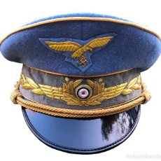 Militaria: GORRA REICHSMARSCHALL HERMANN GÖRING LUFTWAFFE TERCER REICH ALEMANIA GRAN CALIDAD - REPRODUCCIÓN. Lote 191967593