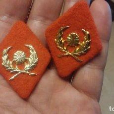 Militaria: PAR DE ROMBOS DE TELA INTENDENCIA. Lote 192159395