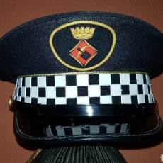 Militaria: ANTIGUA GORRA DE PLATO POLICÍA LOCAL EN EXCELENTE ESTADO. Lote 192850450