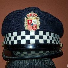 Militaria: ANTIGUA GORRA DE PLATO POLICÍA LOCAL. Lote 192851220
