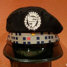 Militaria: ANTIGUA GORRA DE PLATO POLICÍA. Lote 192852155