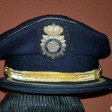 Militaria: GORRA DE PLATO INSPECTOR CUERPO NACIONAL DE POLICÍA EN EXCELENTE ESTADO 100% ORIGINAL!. Lote 192852466