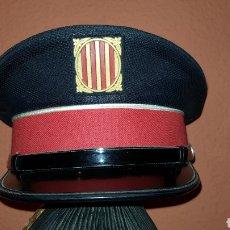 Militaria: ANTIGUA GORRA DE PLATO POLICÍA CATALUÑA. Lote 193652680