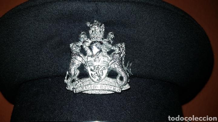 Militaria: ANTIGUA GORRA DE PLATO BRITISH ARMY UK BRIGADE OF GUARDS AUXILIO DIVINO CAP - Foto 2 - 193653680