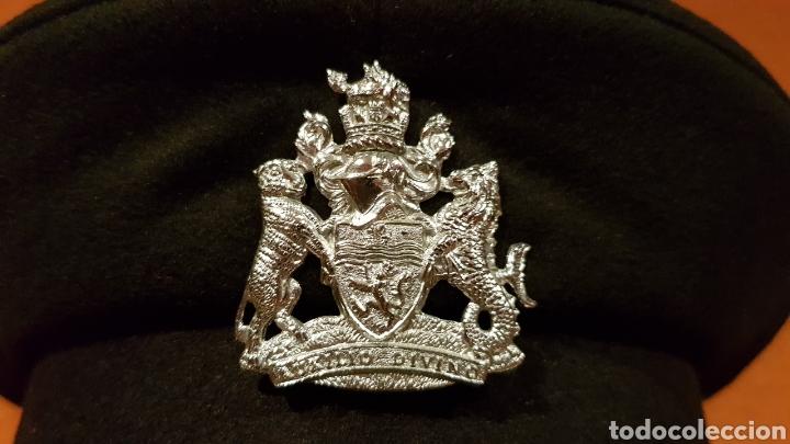 Militaria: ANTIGUA GORRA DE PLATO BRITISH ARMY UK BRIGADE OF GUARDS AUXILIO DIVINO CAP - Foto 3 - 193653680