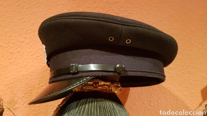 Militaria: ANTIGUA GORRA DE PLATO BRITISH ARMY UK BRIGADE OF GUARDS AUXILIO DIVINO CAP - Foto 4 - 193653680