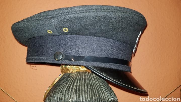 Militaria: ANTIGUA GORRA DE PLATO BRITISH ARMY UK BRIGADE OF GUARDS AUXILIO DIVINO CAP - Foto 5 - 193653680