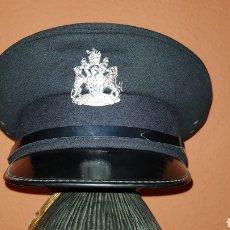 Militaria: ANTIGUA GORRA DE PLATO BRITISH ARMY UK BRIGADE OF GUARDS AUXILIO DIVINO CAP. Lote 193653680