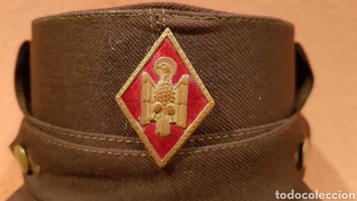 Militaria: ANTIGUA GORRA CON ROMBO DE POLICÍA ARMADA - Foto 3 - 193661900