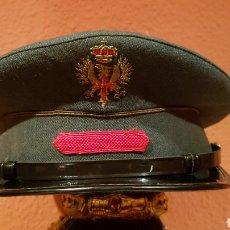 Militaria: ANTIGUA GORRA DE PLATO MILITAR EN EXCELENTE ESTADO. Lote 193662031