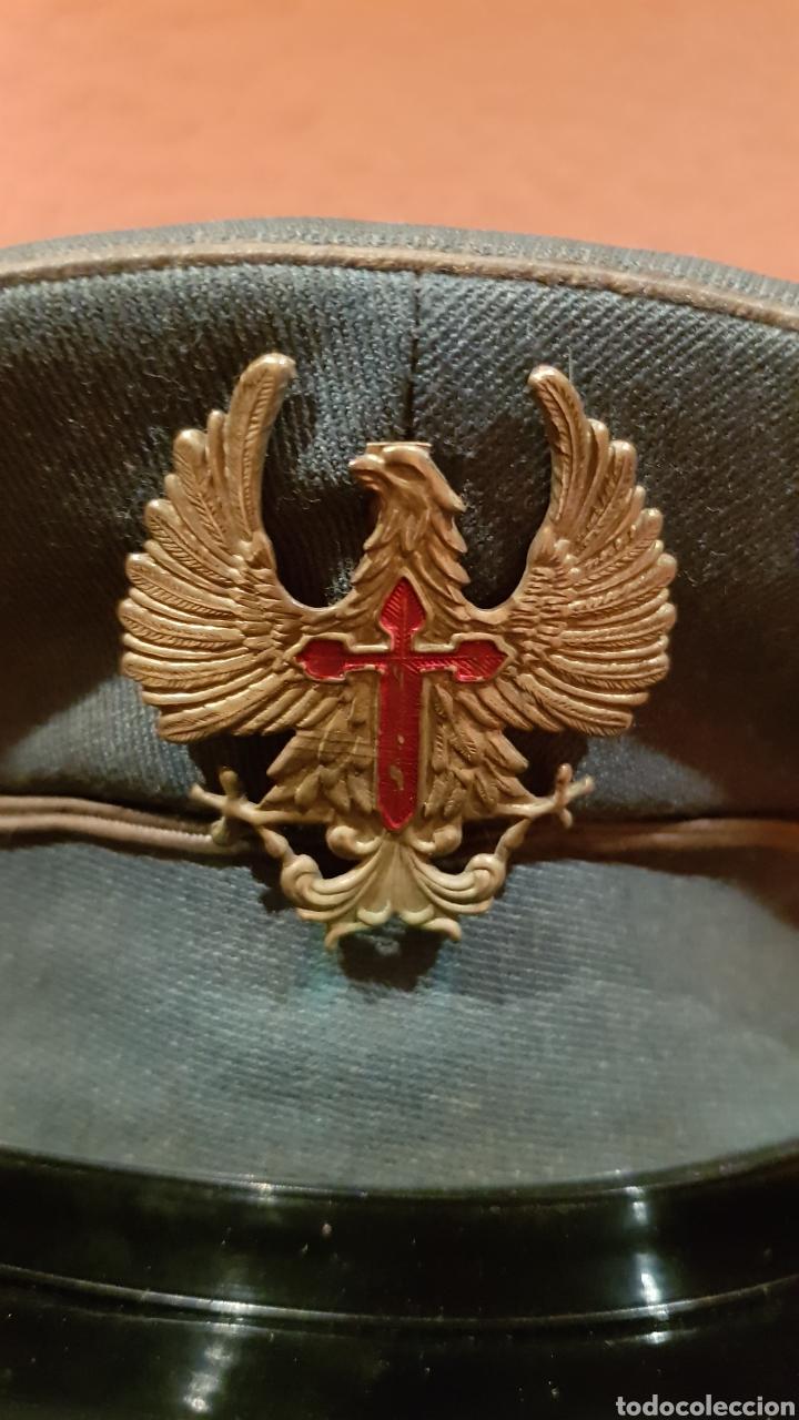 Militaria: ANTIGUA GORRA DE PLATO MILITAR DE COLECCIÓN - Foto 4 - 193664817