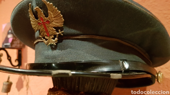 Militaria: ANTIGUA GORRA DE PLATO MILITAR DE COLECCIÓN - Foto 5 - 193664817