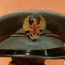 Militaria: ANTIGUA GORRA DE PLATO MILITAR DE COLECCIÓN. Lote 193664817
