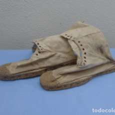 Militaria: * ANTIGUAS ALPARGATAS O BOTINES ALTOS DE GUERRA CIVIL. LEGION, REGULARES... ORIGINALES. ZX. Lote 193736615