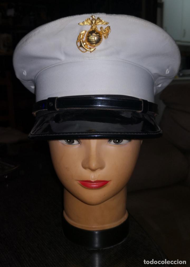 USMC. US MARINES. GORRA DE PLATO DE SUBOFICIAL. (Militar - Boinas y Gorras )