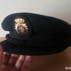 Militaria: POLICÍA NACIONAL GORRA DE PLATO SIN ESTRENAR. Lote 194289656