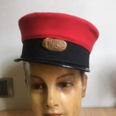 Militaria: GORRA DE FERROVIARIO FEVE. Lote 194296161