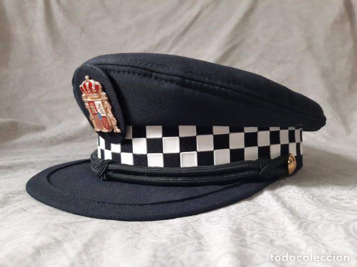 GORRA DE POLICIA LOCAL ANDALUCIA TALLA 58 MODELO ACTUAL LOTE 2 (Militar - Boinas y Gorras )