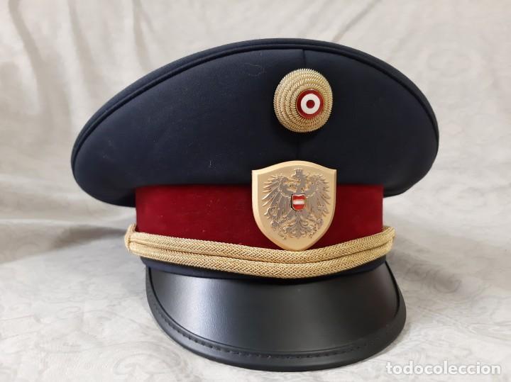 Militaria: GORRA DE COMISARIO DE LA POLICÍA FEDERAL DE AUSTRIA TALLA 59 - Foto 2 - 194313107