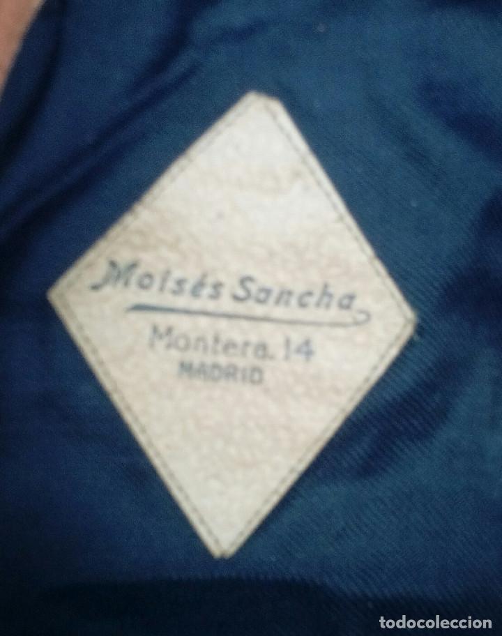 Militaria: Gorra montañera de Falange, Frente de Juventudes, azul mahón, paño,lana,orejeras y cogotera.Talla 55 - Foto 5 - 194313231