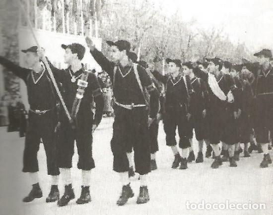 Militaria: Gorra montañera de Falange, Frente de Juventudes, azul mahón, paño,lana,orejeras y cogotera.Talla 55 - Foto 8 - 194313231