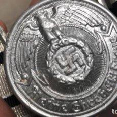 Militaria: CINTURON ALEMAN SS DE GALA COMPLETO HEBILLA Y CINTURON LARGADA 100 CM . Lote 194353681
